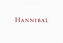 Hannibal serie tv logo, font Wimedia Commons